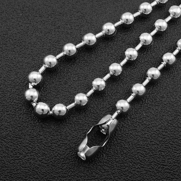 CHIMDOU 6mm/8mm stainless steel Bead Chain Ball Necklace Choker Long (40cm-60cm),customed link chain necklaces for men