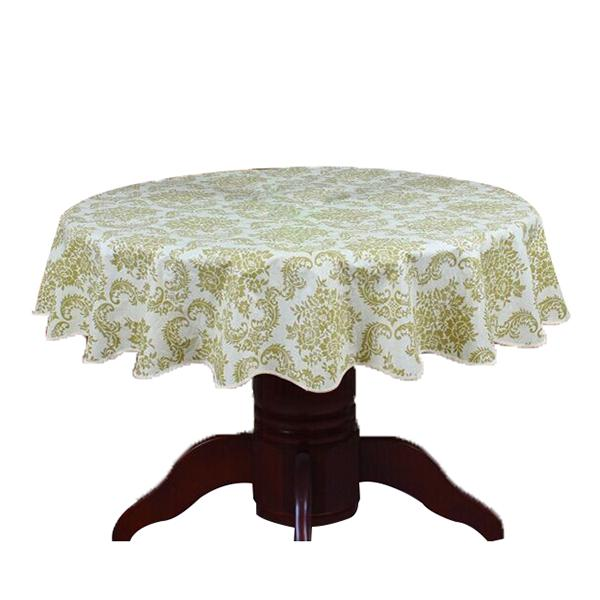 Pastoral Round Table Cloth PVC Plastic Table Cover Flowers Printed tablecloth Waterproof Home Party Wedding Decoration