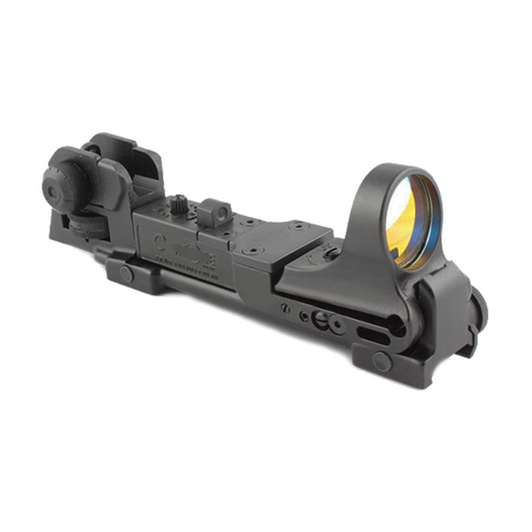 Tactical CMORE Red Dot Reflex Sight with AR Rear Iron Sight Integral Picatinny Mount Fit 20mm RIS standard weaver rail
