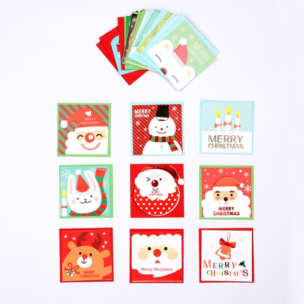 Children Christmas Cards.Folding Xmas Blessing Card Lovely Mini Christmas Cards With Envelope Merry Christmas Cards Kids Christmas 2019 Decoration Items For Christmas