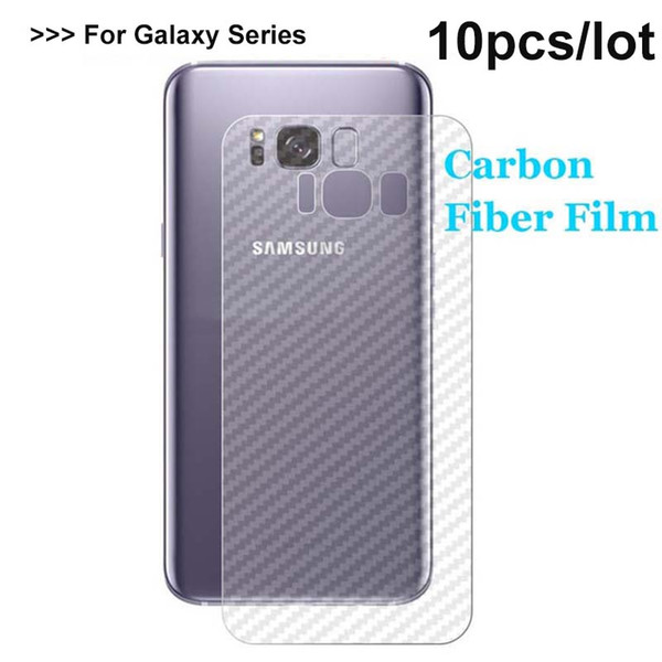 10pcs ACK 3D Carbon Fibre Back Film For Galaxy S9+ Note 8 S8 S8+ S7 Edge S6 Plus Rear Matt Screen Protector (Not Glass)