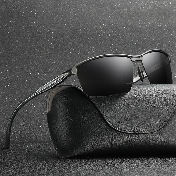 Aluminium Magnesium Polarized Sunglasses Men Driver Mirror Metal Sun Glasses Fashion UV400 High Quality lentes de sol hombre