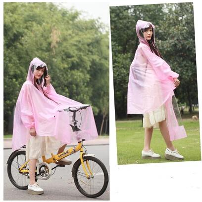 EVA Transparent Impermeable Bicycle Raincoat Poncho Women,Winter Waterproof Rain Coat Poncho,Outdoors Thick Cloaks For Women