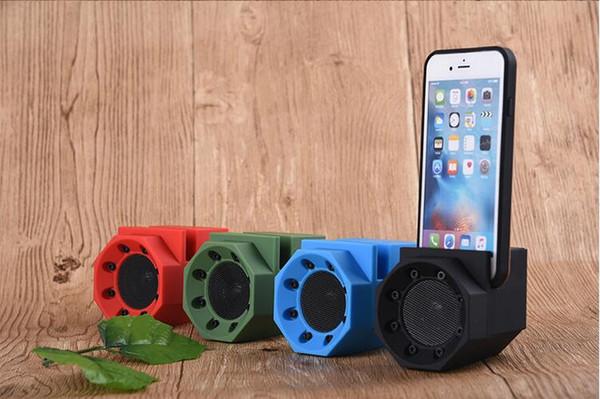 Résonance induction son créatif lion sens mutuel sans fil smart support de téléphone portable magique petit haut-parleur subwoofer