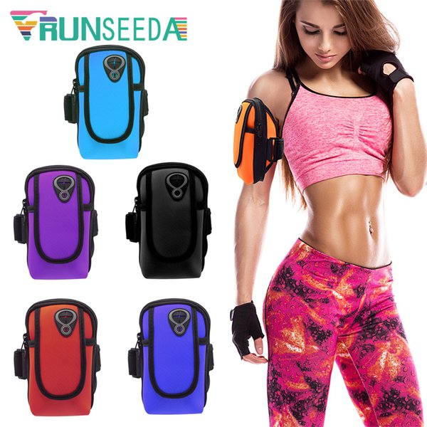 Runseeda Running Sports Sac Brassard Cyclisme Téléphones Portables Arm Bag 6 pouces Smartphone Poche Pour Jogging Pêche Riding Gym Fitness