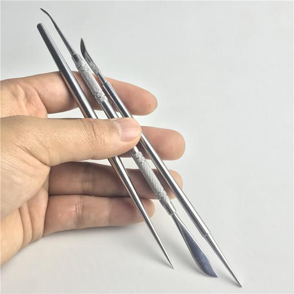 Yeni 6.5 Inç Metal Kılıç Balmumu Dab Aracı Paslanmaz Çelik Yağ Ot Buharlaştırıcı için Dabber Araçları Sigara Bıçak Kürek