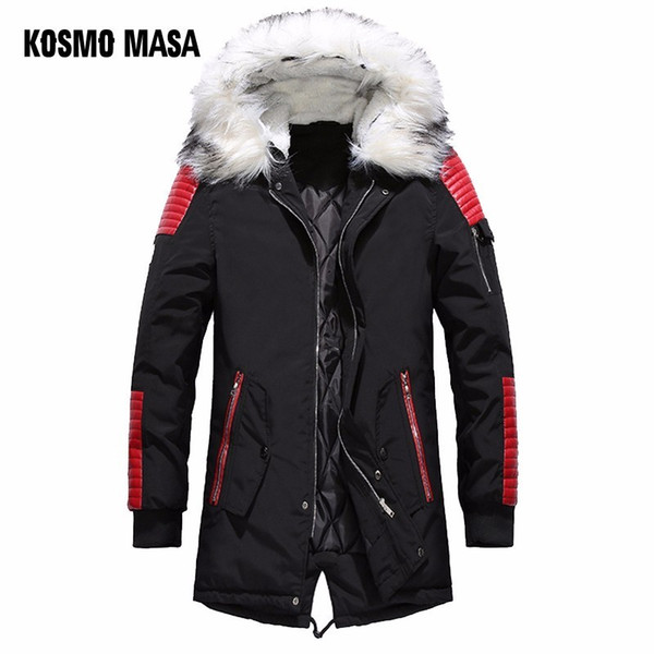 Großhandel KOSMO MASA Schwarz Long Man Winterjacke Herren Warm Fur Hooded 2018 Herren Jacken Und Mäntel Zipper Down Herren Parkas MP029 Von Maoku,