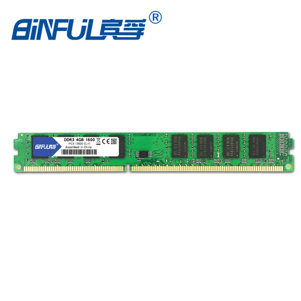 ddr3 pc3-12800 Binful original New Brand DDR3 PC3-12800 4GB 1600mhz for Desktop RAM Memory 1.5V Compatible with all motherboards