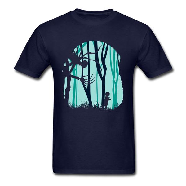 Orman Içinde Tees Aşağı Yaz Hip Hop Komik Kısa Kollu Saf Pamuk Yuvarlak Yaka Erkekler T Shirt Komik Tee-Gömlek Üst Kalite