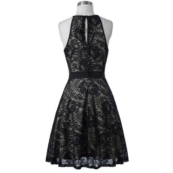 Fashion Short Evening Dress Sleeveless Vintage Black Formal Gowns Lace Mother of The Bride Dresses Vestido De Festa