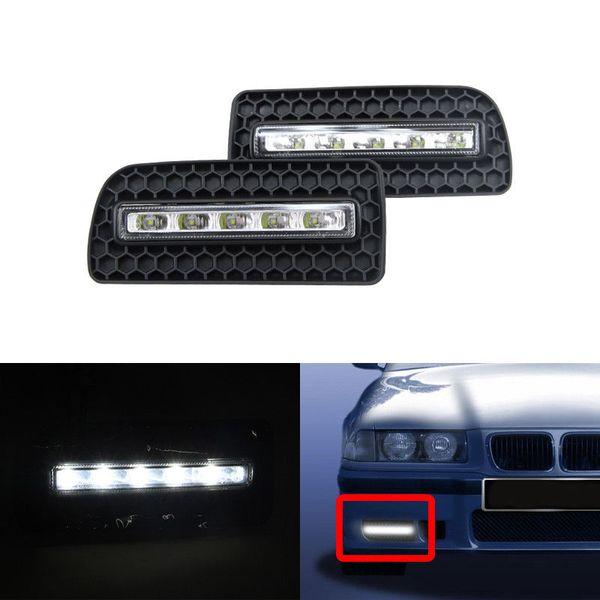 1 Pair Car Led Dim Daytime Running Lights DRL Fog Daylights For Bmw E36 M3 1991 1992 1993 1994 1995 1996 1997 1998 E36