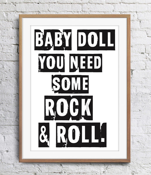 Motivational Inspirational Quotes Baby Doll You Need Some Art Poster Wall Decor Pictures Art Print Poster Unframe 16 24 36 47 Inches