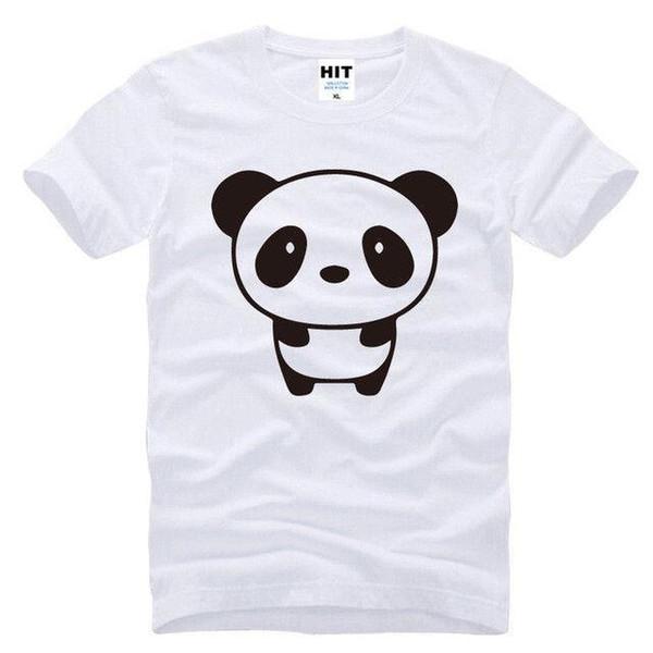Cute Cartoon PANDA White Short Sleeve Men T Shirt Size S-3XL Mens 2018 fashion Brand T Shirt O-Neck 100%cotton T-Shirt Tops Tee custom