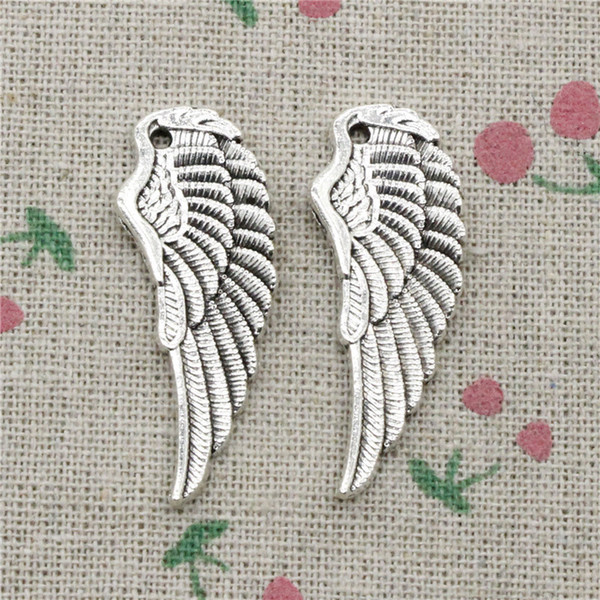 37pcs Charms angel wings 38*14mm Tibetan Silver Vintage Pendants For Jewelry Making DIY Bracelet Necklace