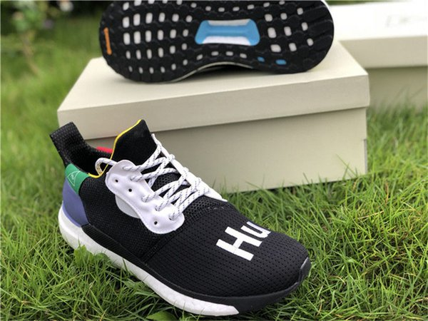 31c8a2204 2018 Release Pharrell Williams Solar Hu Glide Hu Trail Human Race Man  Running Shoes Authentic Sneakers
