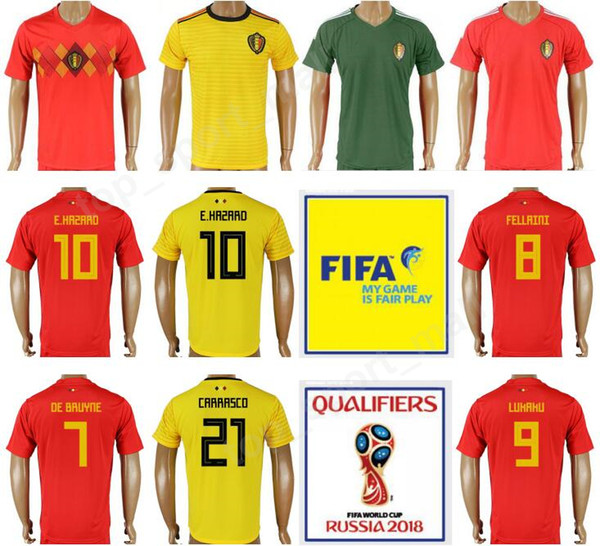 sports shoes 538cd 91cd0 2019 Belgium 2018 World Cup 10 HAZARD Soccer Jersey 4 Vincent Kompany 9  Romelu Lukaku Goalkeeper 12 Simon Mignolet Thailand Football Shirt Kits  From ...
