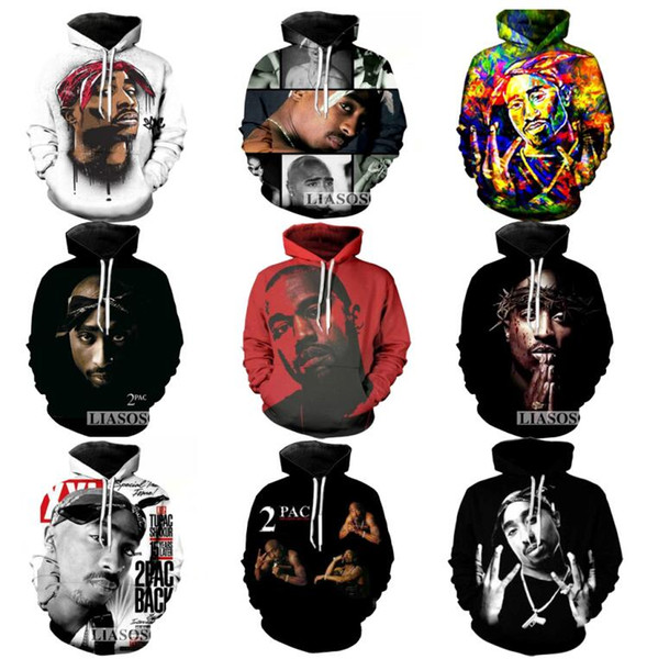2018 New Fashion Couples Men Women Unisex 2pac Tupac 3D Print Hoodies Sweatshirt Jacket Pullover Tops S-5XL
