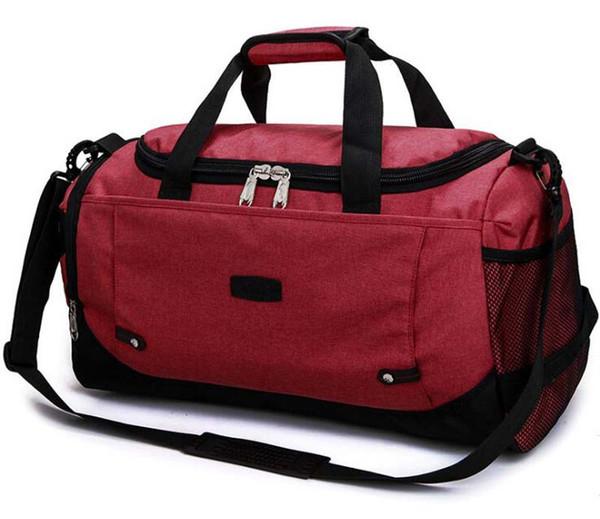 Kadın Erkek Naylon Nefes Büyük Kapasiteli seyahat duffle çantası Saf Kısa Fermuar Desinger SportOutdoor Paketleri