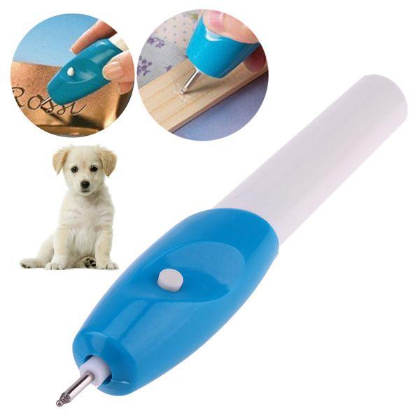 Pet Dog ID Tag Metal Electric Lettering Pen Engraver Pen Carve Tool Dog Accessories Electric Pen For pet dog lettering