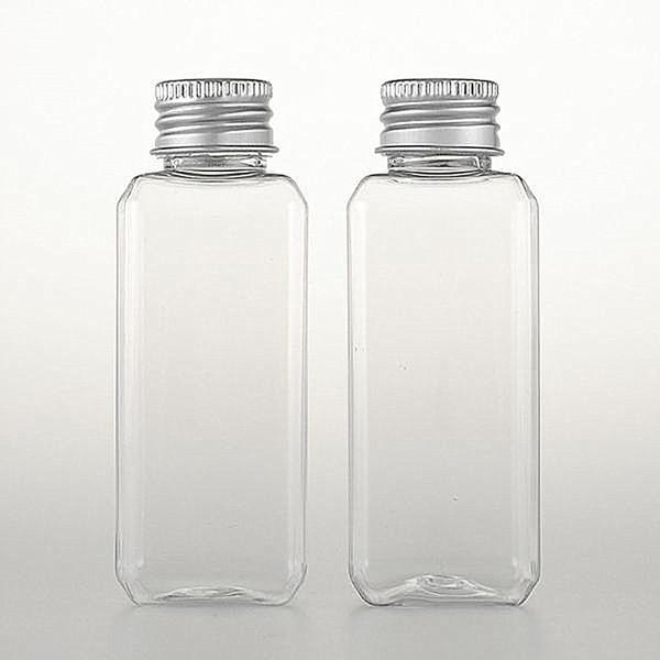 50 ml botella de plástico de uso de tinta de loción de perfume de tóner mascota transparente botella de plástico con rociador de bomba de loción torsión de tapa de rosca