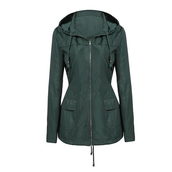 Women's Windbreaker Summer Jacket 2018 Fashion Long Sleeve Loose Hooded Jackets Oversized Waterproof Outerwear Raincoat Female