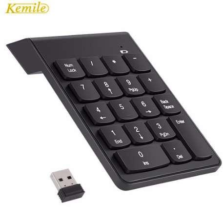 Kemile 2.4G Wireless USB Numeric Keypad Mini Numpad 18 Keys Digital Keyboard for iMac/MacBook Air/Pro Laptop PC Notebook Desktop