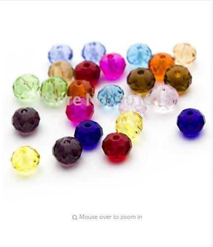 100Pcs Mixed Faceted Crystal Acrylic Round Spacer Beads Dia. 4 6 8mm Pick Size For DIY Jewelry F2351