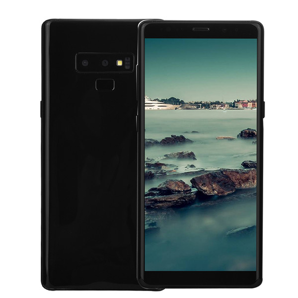 Cheap Face ID Goophone Note9 Note 9 V2 Clone 1GB 16GB+32GB 3G WCDMA Quad Core MTK6580 6.3 inch Curved Full Screen GPS Metal Frame Smartphone