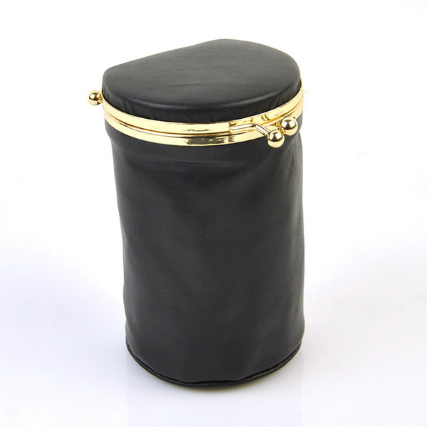Women Genuine Real Leather Makeup Bag Lipstick Case Cosmetic Bag Natural Sheep Skin Vintage Organizer Kiss Lock Barrel Designer