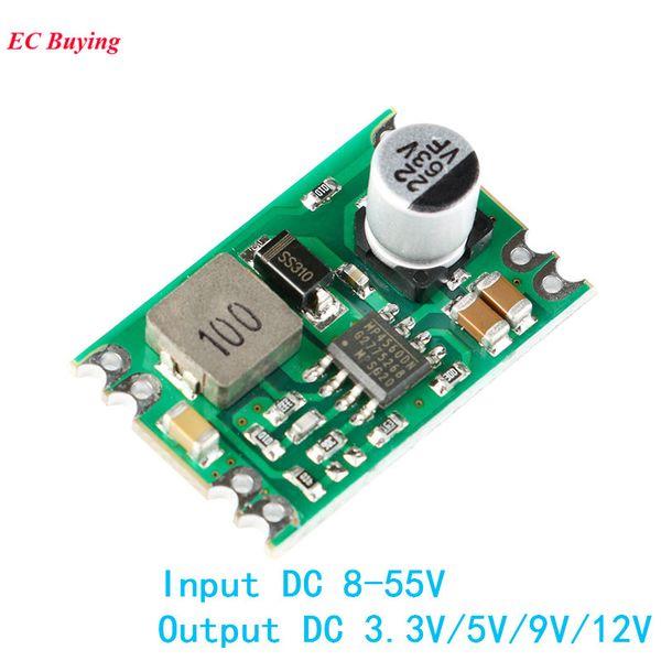 DC DC Step Down Power Supply Module Buck Regulated Board 2A Input 8-55V Output 3.3V/5V/9V/12V A04 Electronic DIY PCB