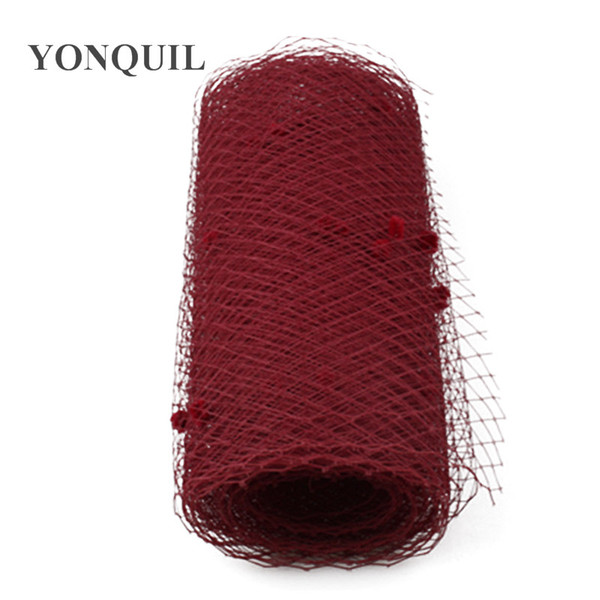 Marron or more colors mix dot birdcage veils 25CM Width DIY Hair accessories wedding veils hat adorn bridal netting hat party fascinator