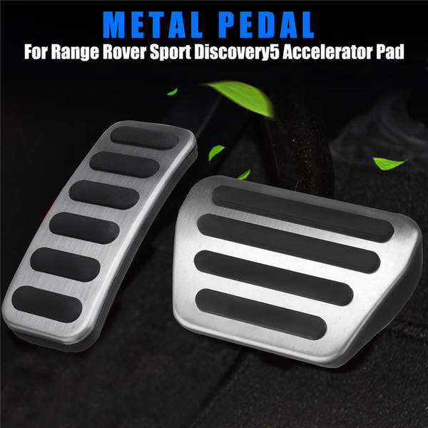 2Pcs/set Gas Brake Pedal Accelerator Pad Cover For Rover Range Sport Discovery 5 2013-2018 Auto Replacement Parts Pedals