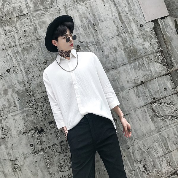 2018 Cotton Linen Shirt Loose Fit Camisas De Hombre Designer Club Shirt Ropa Para Hombre Stylish Shirts For Men