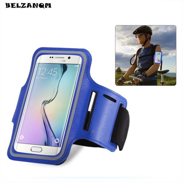 Estojo de Ginástica para S8 S8 Plus A8 2018 Esportes Jogging ArmBand Bag para Huawei P20 Pro Saco Do Telefone Universal Correndo Arm Band ...