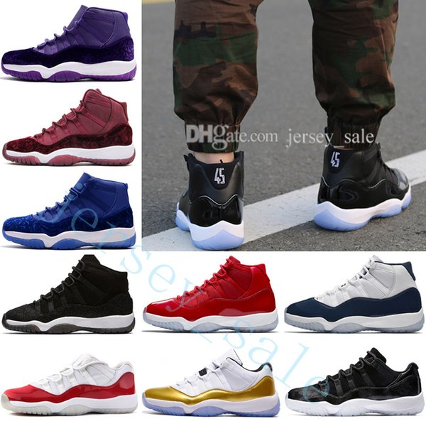 11 Mens Basketball Shoes Women 11s Space Jam 45 With Number 45 High Gym Red Midnight Navy Win Like 82 96 Bred Barons 72-10 Sports Sneakers