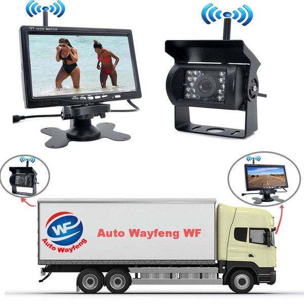 """Wireless IR Rear View Car DVR Recorder Back up Camera Night Vision System+7"""" Monitor for RV Truck Free Shiping"""