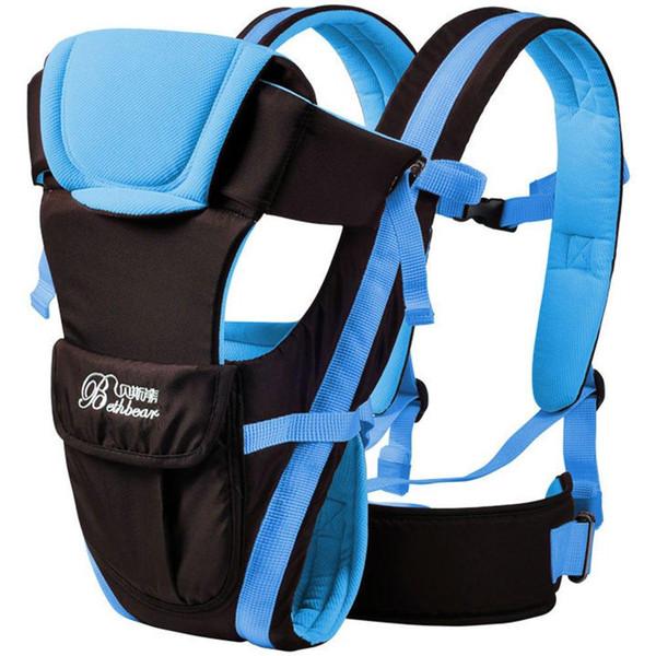 Multifonctionnel 3 Voies Respirant Réglable Boucle Mesh Wrap Baby Carrier Sac À Dos Transporteur Kangourou