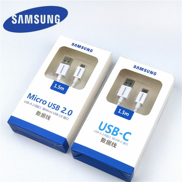 original Galaxy s9 charger cable s8 150cm white micro usb/type c quick fast charge cable for S7 Edge a5 j5 s6 s5 s3 a8