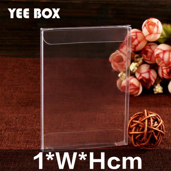 50pcs/lot 1*W*Hcm Spot PVC clear plastic box/ Box used to display notebook, dried fruit, album, cosmetics, etc.