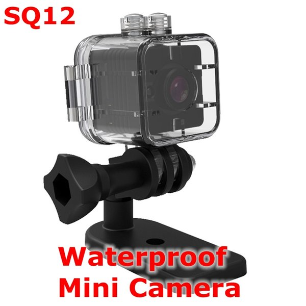SQ12 Waterproof 1080P Mini action Sportin Camera 360° Rotation Clip Micro Infrared Night Motion Detection Camera Recorder DVR Retail package