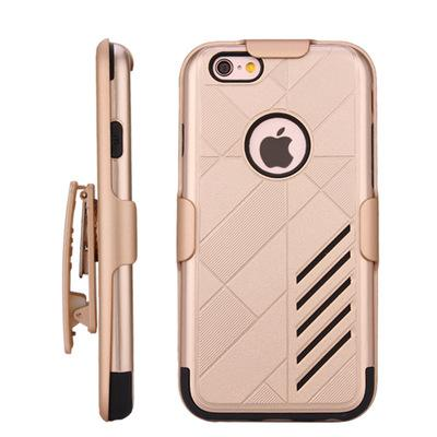 For iPhone 6 6Plus Scratchproof Phone Cases Phone Holder 3 in 1 Cover 9 Colors Kickstand Front Shell back Shell