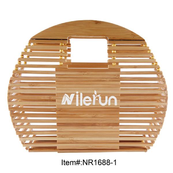 2018 new style oval fish shape bamboo handbag