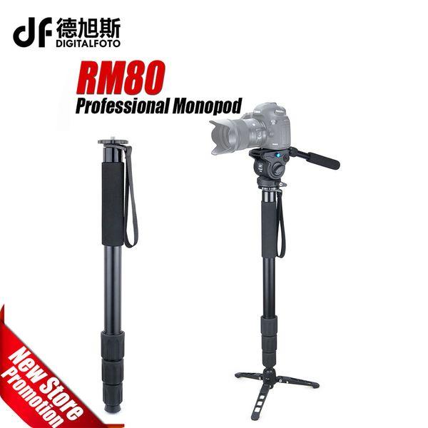RM80 8KG bear Alloy professional camera monopod compact DSLR stand for Canon Nikon portable light video monopod fluid head