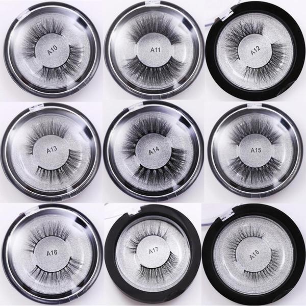 22 Styles 3D Mink Eyelashes 3D Mink Hair False Eyelashes 100% Real Mink Lashes Crossing Fake Eye Lashes Natural Long Thick Eyelash