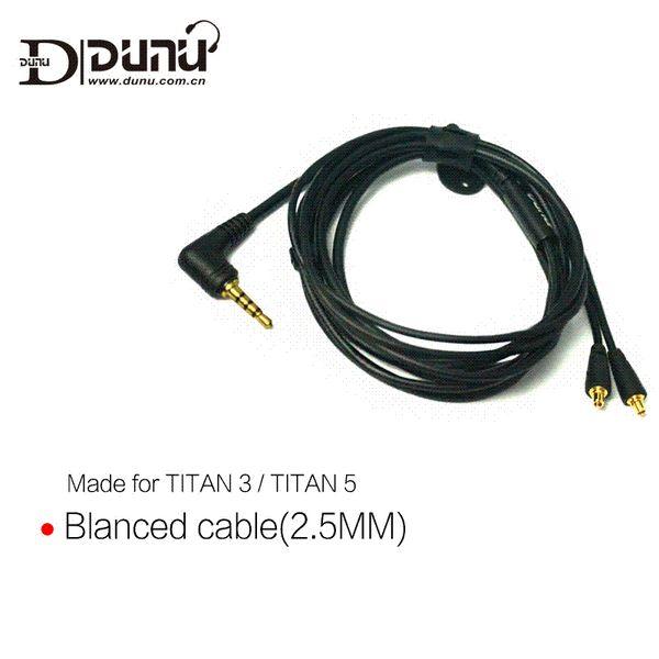 DUNU Original 2.5mm 3.5mm Balance Earphone Cable made for TITAN3 TITAN5 wholesale earphone cable balanced earphone