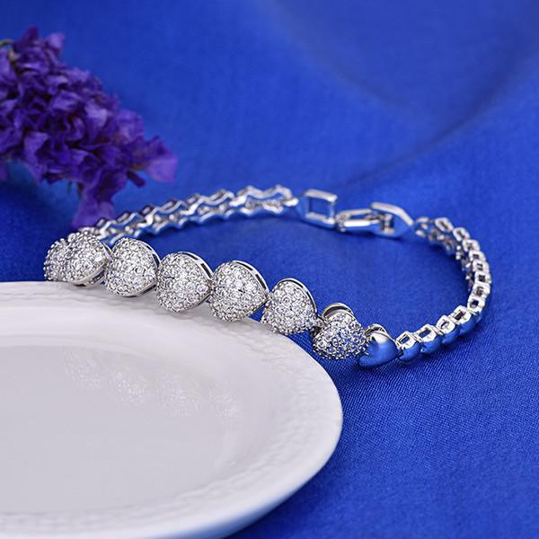 Forever Love Heart Zircon Bracelet Best Selling 2018 Products Wholesale  Jewelry Bracelets Friendship Star Bracelet Wholesale Shiny Bangles Songs