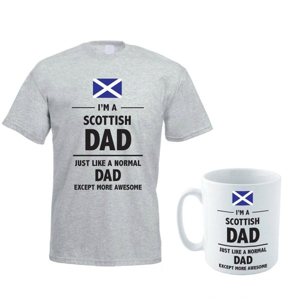 SCOTTISH DAD - Scotland / Daddy / Father / Gift Themed Men's T-Shirt & Mug Set Funny free shipping Unisex Casual tee gift