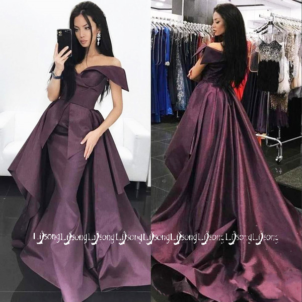 Grape Purple Prom Party Dress Winter Autumn Evening Maxi Gowns Vestido de Festa Satin Elegant Long Dresses Custom Made Occasion Maxi Gown