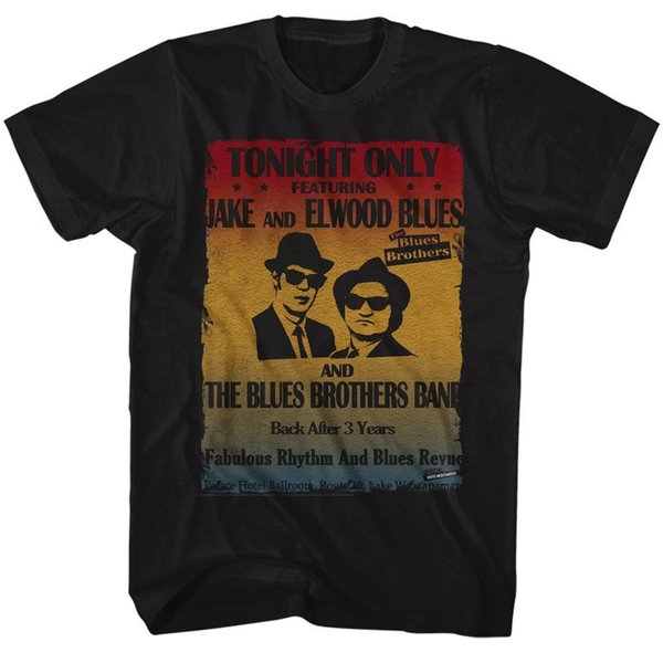 LUES BROTHERS Men's Short Sleeve T-Shirt BLACK POSTER Summer Casual Man T Shirt Good Quality top tee