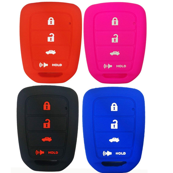 4 Buttons Silicone Car Key Cover Case Holder Shell FOR HONDA CR-V ACCORD CIVIC CRV JAZZ HR-V 2014 2015 2016 REMOTE KEY Protector